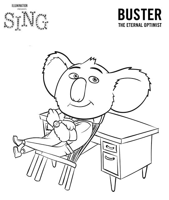 Filme Sing - Desenhos para colorir | Coloring Pages | Pinterest ...