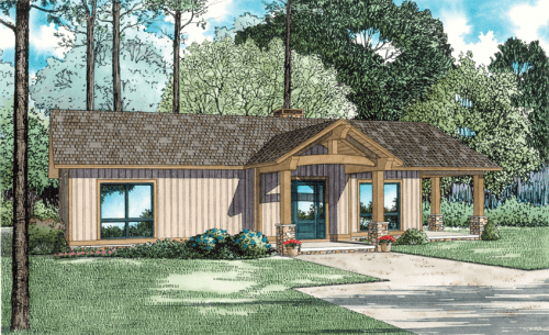 Looking for a house plan with less space to take care of so you can spend more time doing the things you love?  NDG 1637 - Cozy Retreat II  1,128 Sq.Ft. | 2 Bed | 1 Bath