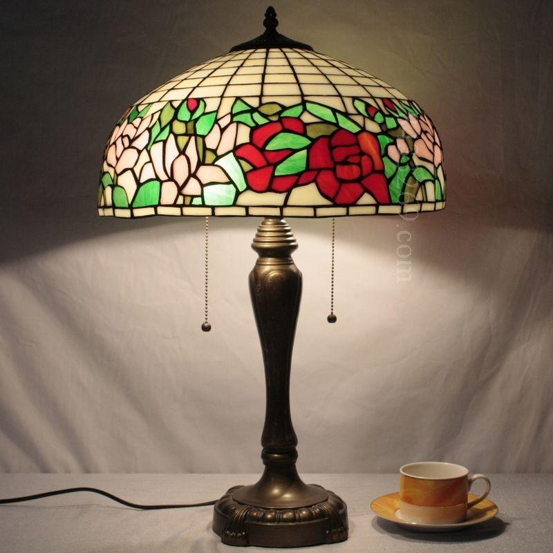 Rose Tiffany Lamp 16S0-106T246
