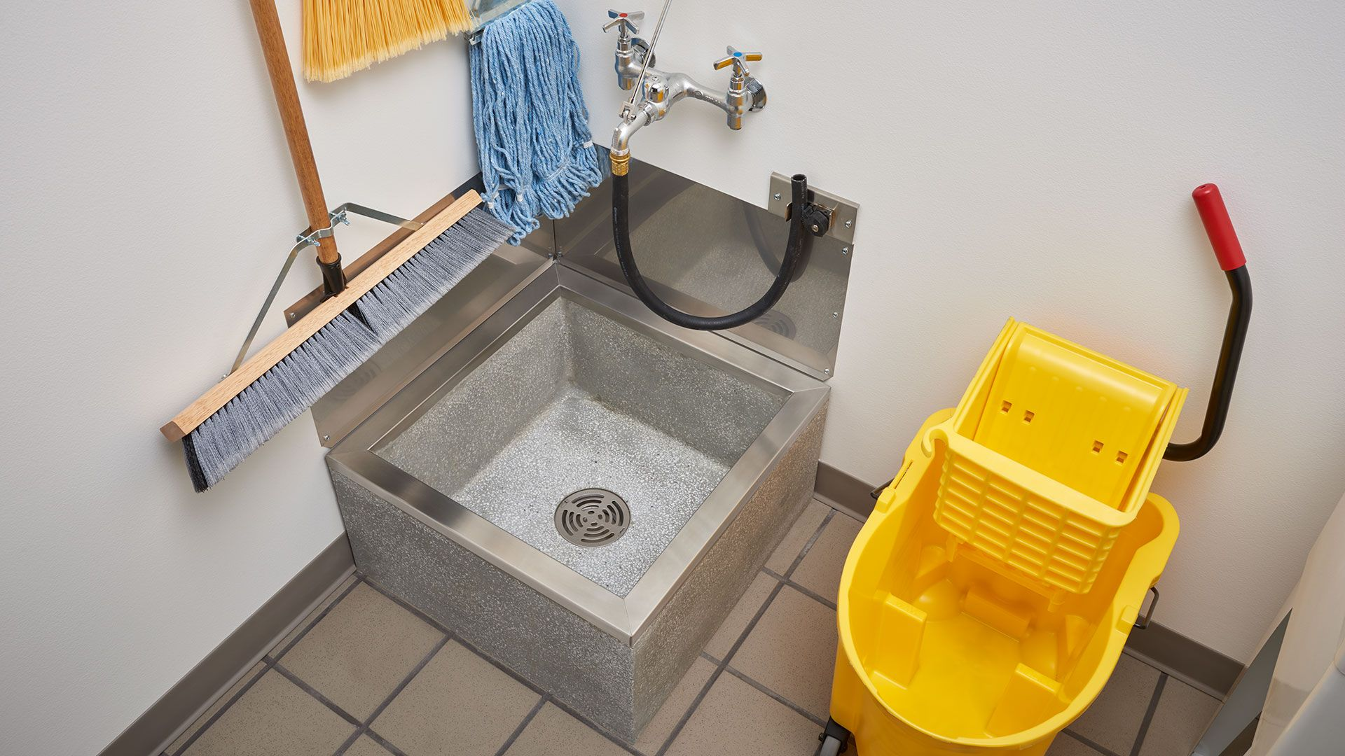 Mop Sinks Made Of Durable Terrazzo And Molded Stone Fiat