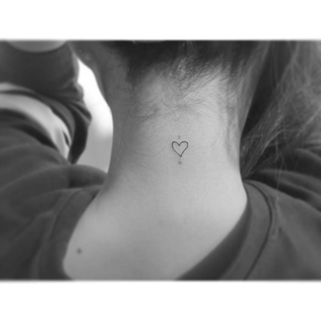 We Re Loving The Ladies Who Have Taken The Leap Made The Commitment And Gotten Marked With Some Permanent Heart S Heart Tattoo Tiny Heart Tattoos Neck Tattoo