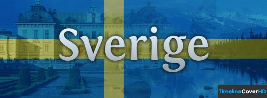 Sverige Sweden Flag Timeline Cover 850x315 Facebook Covers - Timeline Cover HD