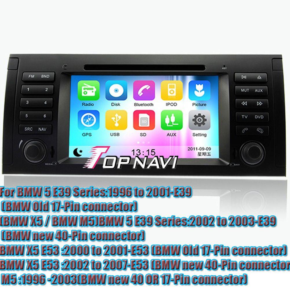 Wince 6 0 car dvd player gps navigation system radio stereo for bmw e39 x5 e53 m5