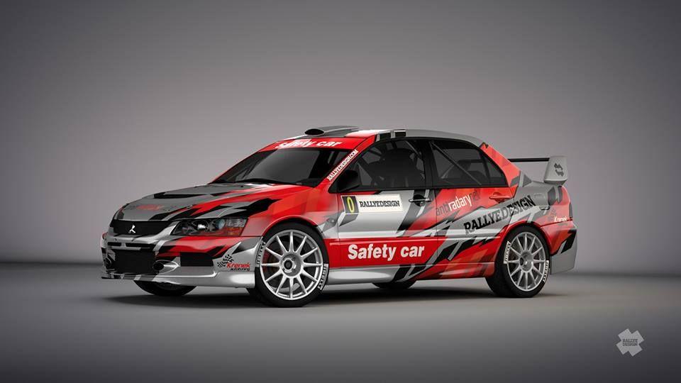 Mitsubishi Lancer Evo IX Safety Car - design and wrap, first seen ...