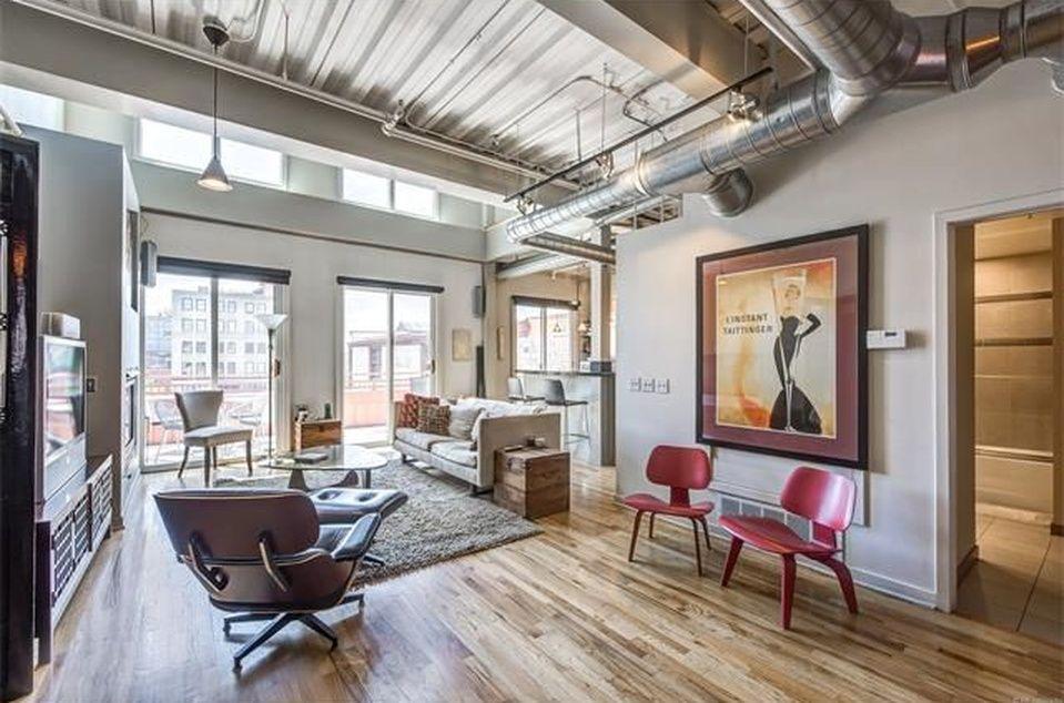 2 Story Loft Condo In Denver Living Room