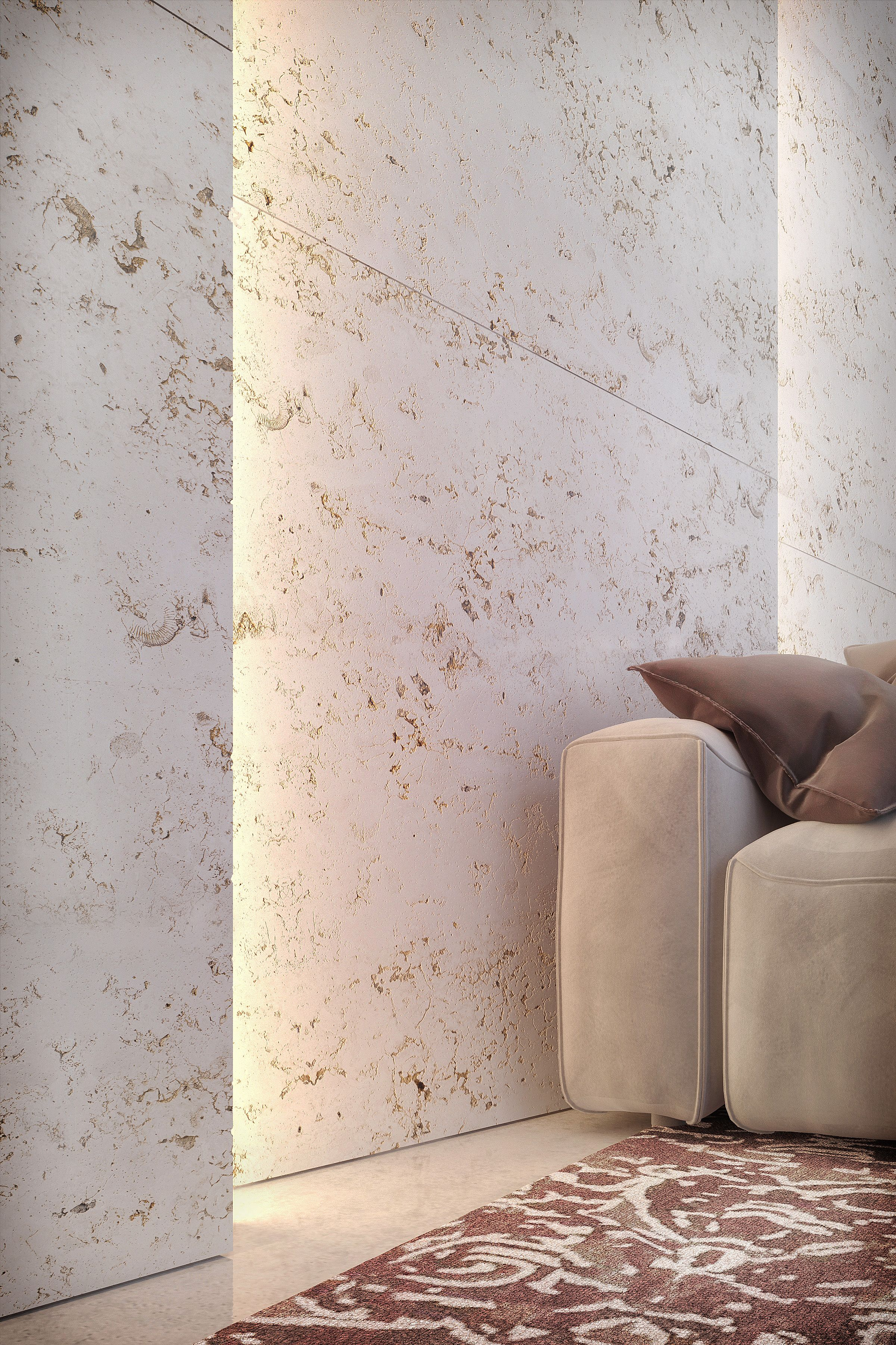 Unique Wall Finishes modern finishing materials - unique finishes of travertine slabs