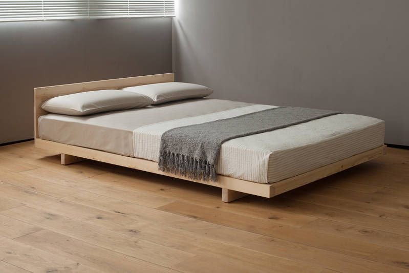 Kobe Low Bed Solid Wood Natural Bed Company Japanese Style Bed Japanese Bed Minimalist Bed
