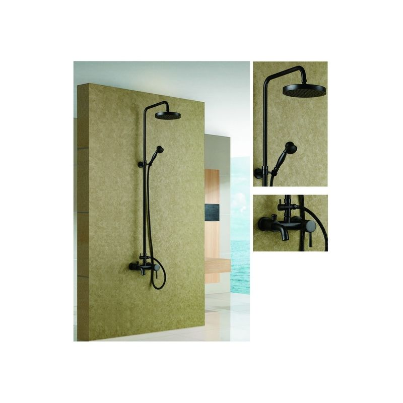Solid Brass Antique Exposed Phone Style Bath Shower Faucet With Hand ...
