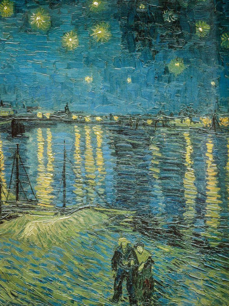 Vincent van gogh starry night over the rhone 1888 for Starry night over the rhone hd