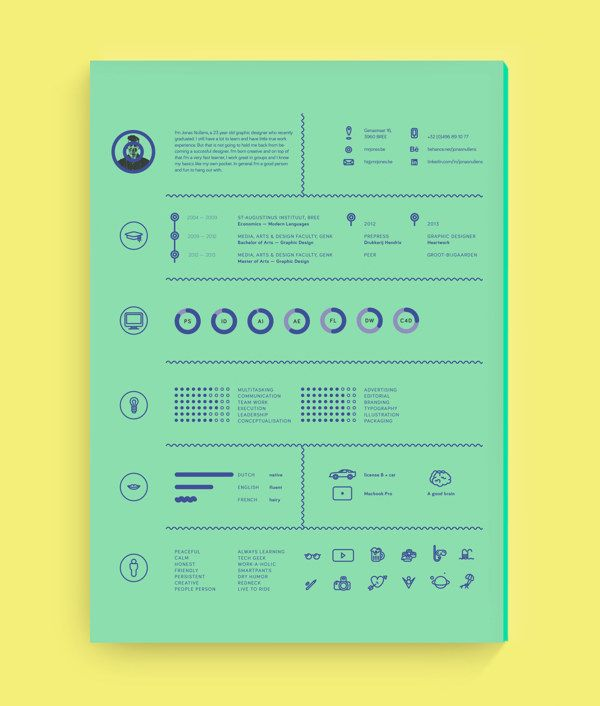 Personal branding & resume by Jonas Nullens, via Behance | resume ...