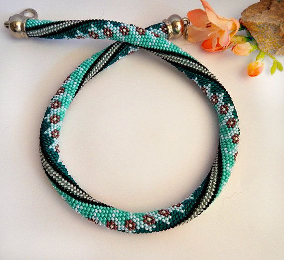 Beaded Rope-Bead crochet von Inspirationzweig auf Etsy