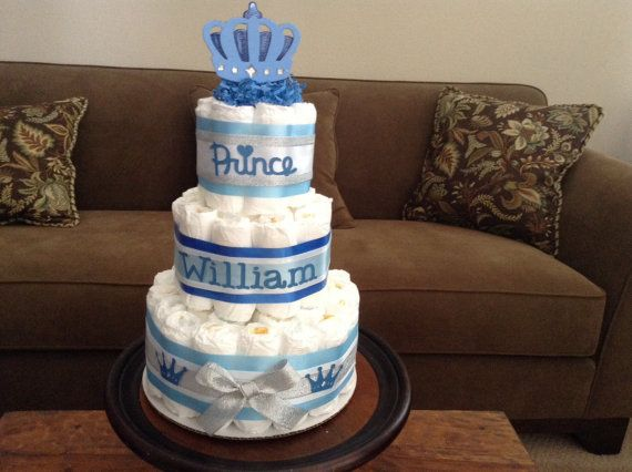 Little Prince Baby Shower Diaper Cakes Centerpieces Other Colors
