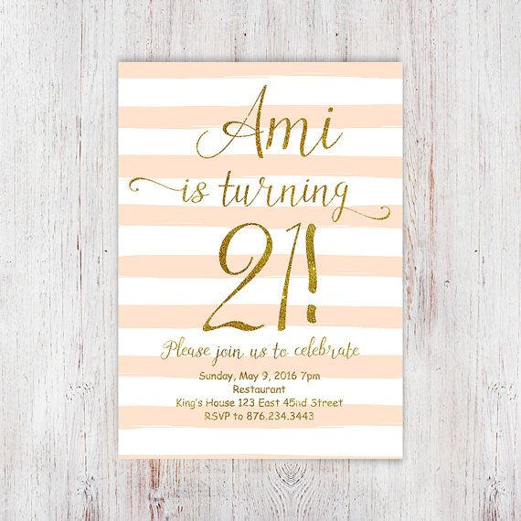 21st Birthday Invitations For Women Ot Invitationsdigital Na Etsy
