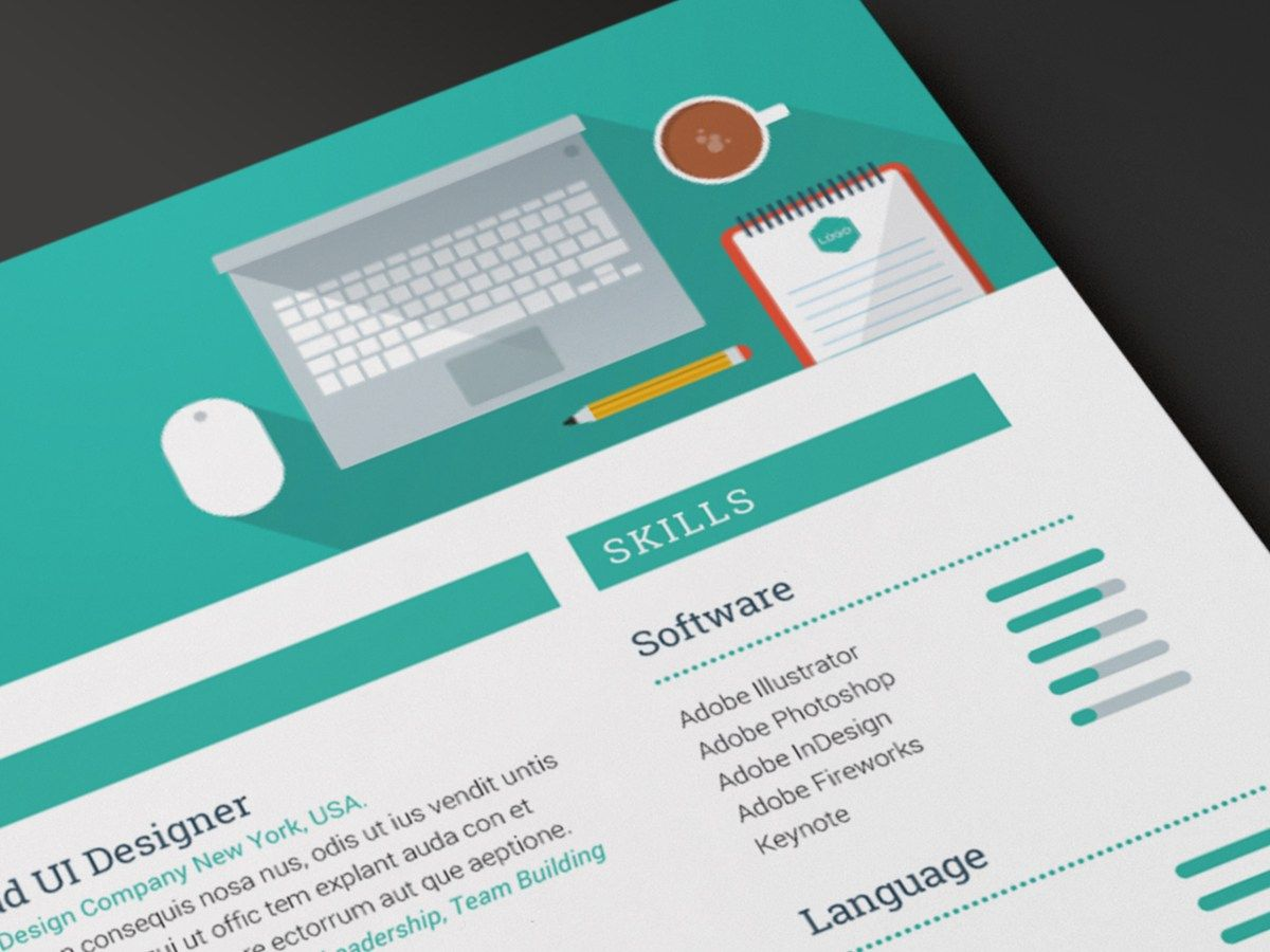 Design detail Creative Resume template by ikono