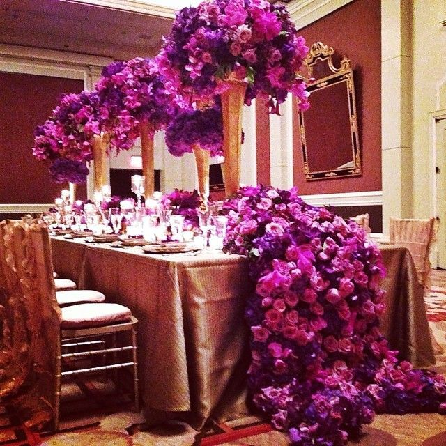 Purple Wedding Reception Ideas: Our #thefloralexperience Royal Dinner