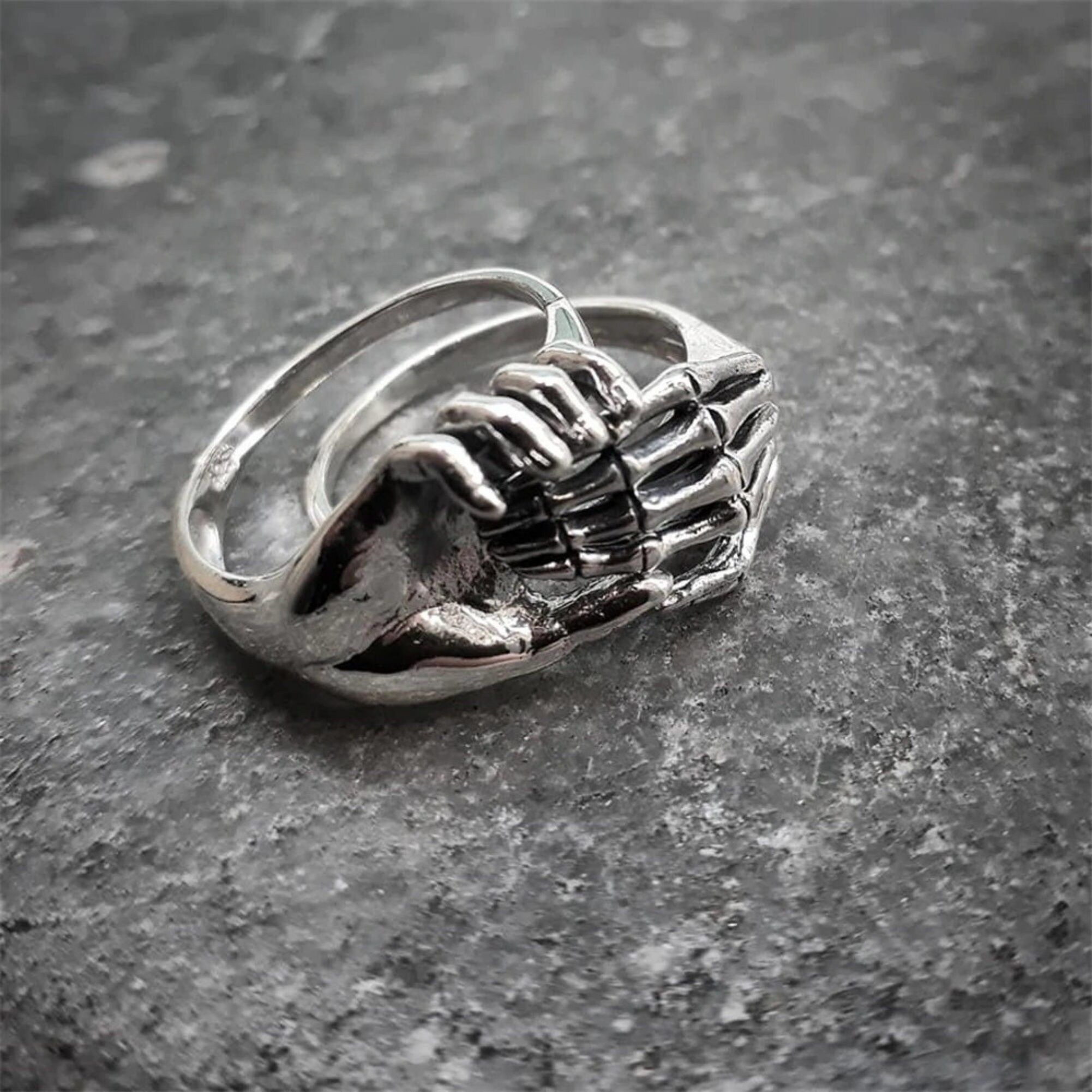 Handmade item Materials: 316L Stainless Steel Color: Silver - Antique Rustic Finish Ring Size: Available in US Size 7 to 14 Please note: All weights and sizes are approximate. VALUES OF VIKING SYMBOLS Viking Symbols took an essential part in Norse culture. Some of them were used to bring ENERGY and FAITH, while the others were used to call on their gods for protection or even for instilling fear in their enemies. Although today we consider Vikings' symbols only Norse mythology, it should be note