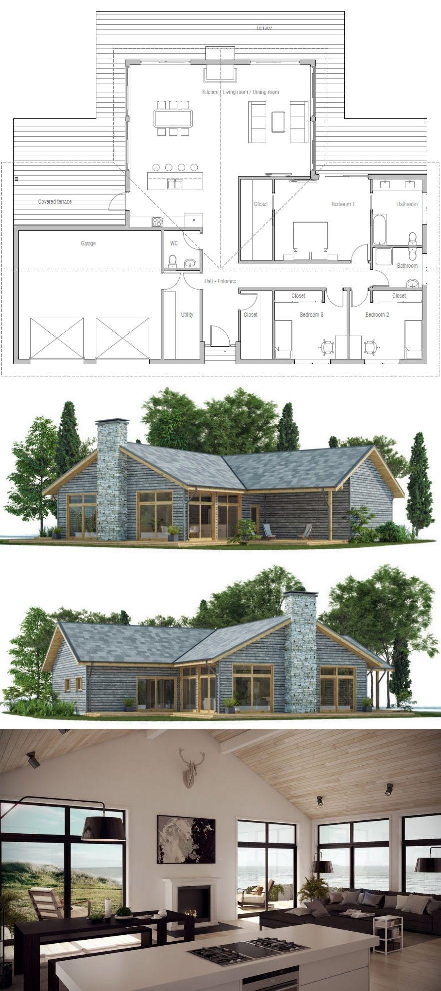 House Plan Ch435 Farmhouse Floor Plans Dream House Plans Craftsman Floor Plans