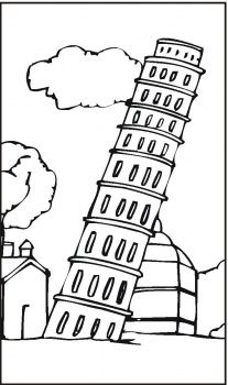 Leaning Tower Of Pisa Coloring Page Super Coloring Pisa Italy For Kids Coloring Pages