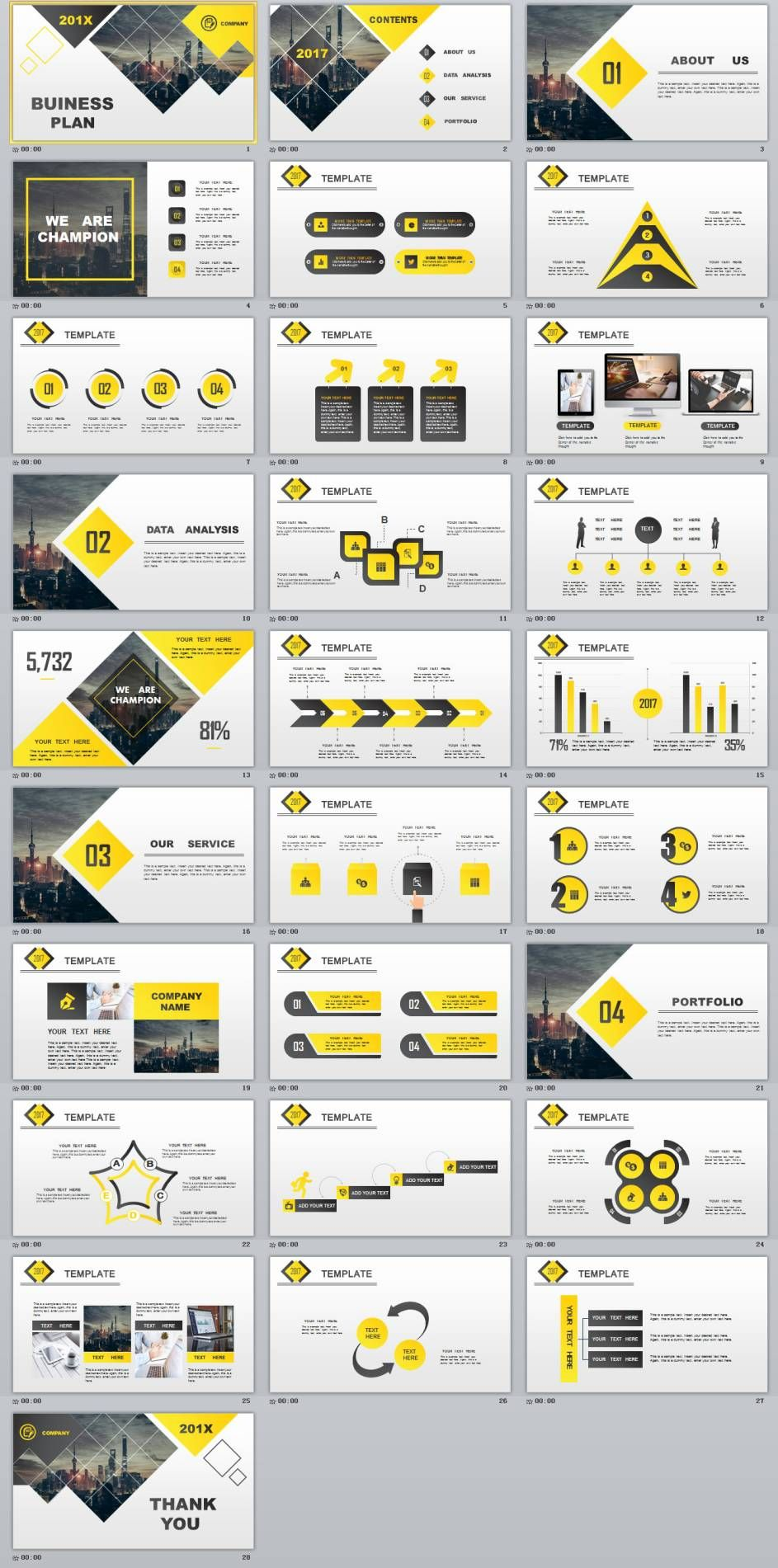 28+ best yellow lowpoly business powerpoint template | powerpoint, Modern powerpoint
