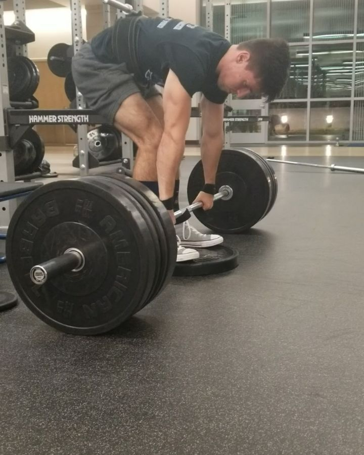Deficit deads at 145 lbs bodyweight.  Top set of 385 lbs....66 kg lifter?