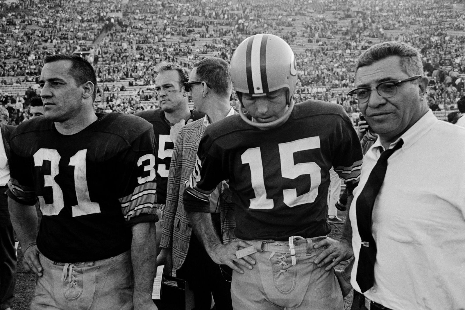 Jim Taylor, Paul Hornung, Bart Starr and Vince Lombardi, U.S.A.: August 2010