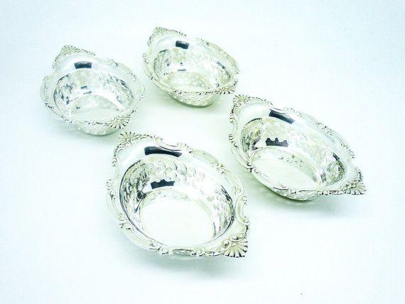 4 Solid Silver Nut Dishes Gorham A4780 Sterling by DartSilverLtd