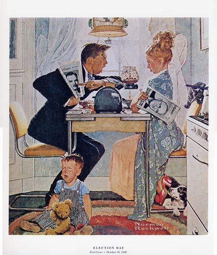 Election Day 1948 - Rockwell
