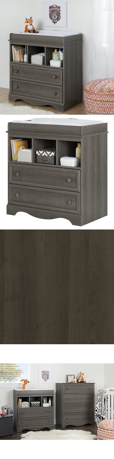 South Shore Savannah Changing Table With Drawers, Gray Maple | Changing  Tables 20424 | Pinterest | Chats Savannah, Drawers And Gray