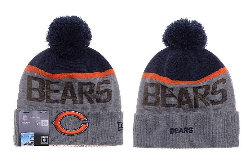 5d0cf7b878c3ca Mens / Womens Chicago Bears New Era Vivid Team Graphic Cuffed Sport Knit  Beanie Hat With Pom Pom - Grey / Navy