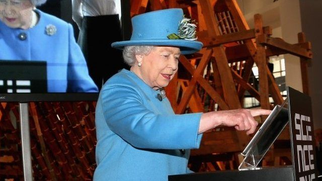 BBC News - The Queen sends her first tweet through @BritishMonarchy account. A very Modern Monarch! Oct.23/14