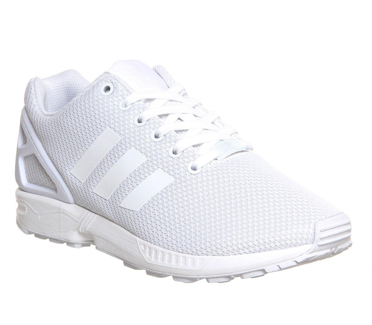 mens adidas zx flux black mono trainers shoes