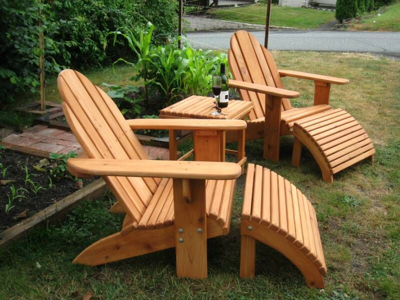 Adirondack Patio Set Two Classic Adirondack Chairs With