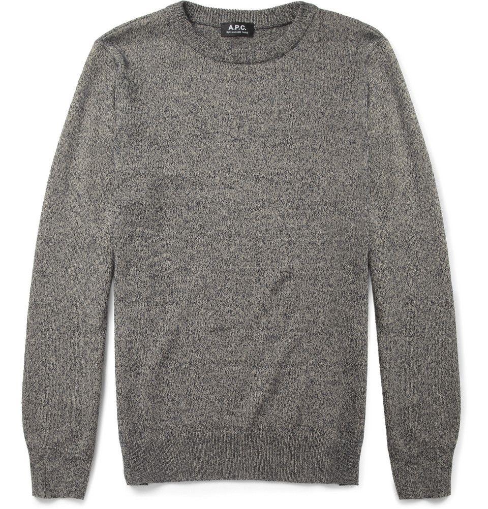 A.P.C. - Cotton and Silk-Blend Sweater|MR PORTER