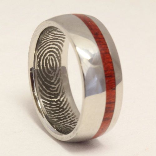 Fingerprint Ring Made Of Titanium Gold Platinum Palladium Or Sterling Silver With Your Fingerprint Wedding Fingerprint Wedding Bands Fingerprint Ring