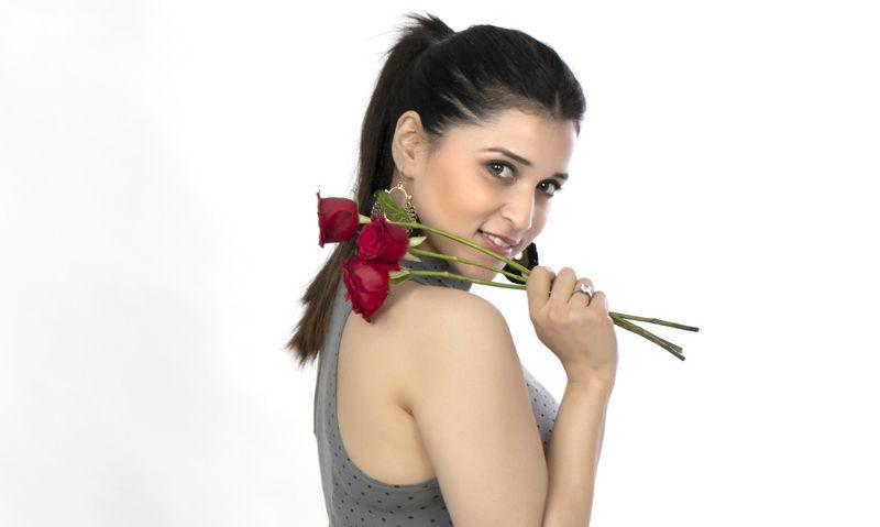 Actress Mannara Chopra Valentine's Day Photos