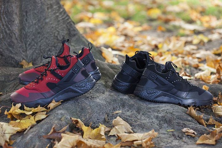 Closer look at the Nike Air Huarache Utility Black & Gym Red. Coming 15th October.  http://ift.tt/1ZCKOrm
