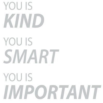The Decal Guru You is Important Wall Decal Color: Light Gray, Size: 60