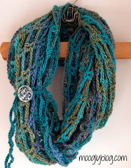 crochet patrón sin carenado libre de crochet patrón infinito bufanda ...