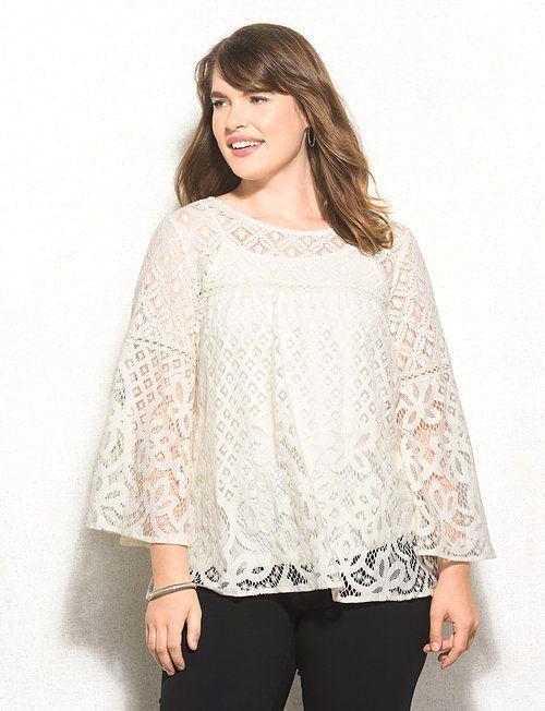dc47fae0146 Plus Size Lace Babydoll Top