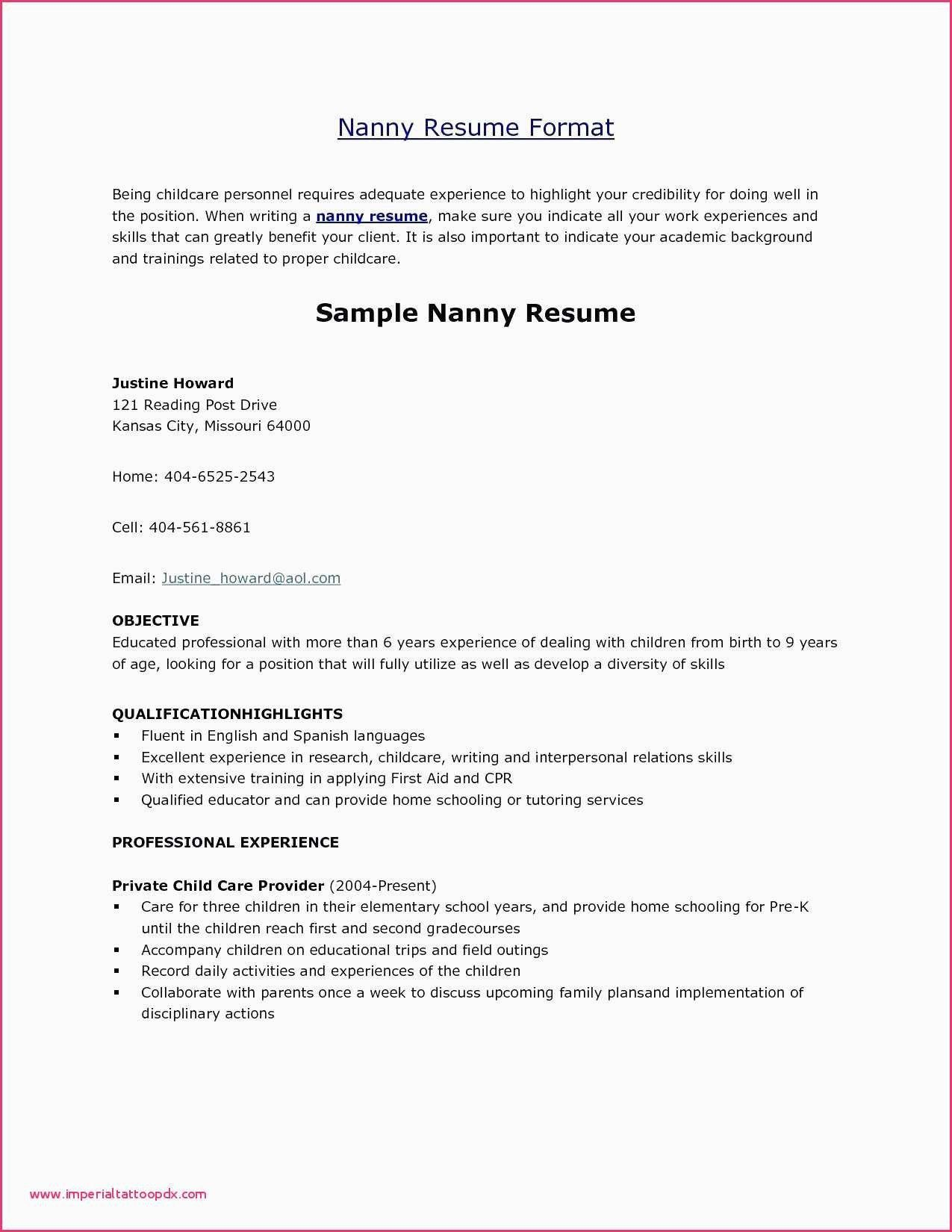 Outline for A Resume New Resume Outlines Free Examples