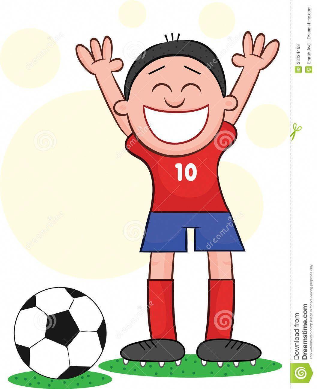 Footballer Cartoon Cartoon Soccer Player Happy Royalty Free Stock Photos Image Soccer Players Free Stock Photos Image Royalty Free Stock Photos