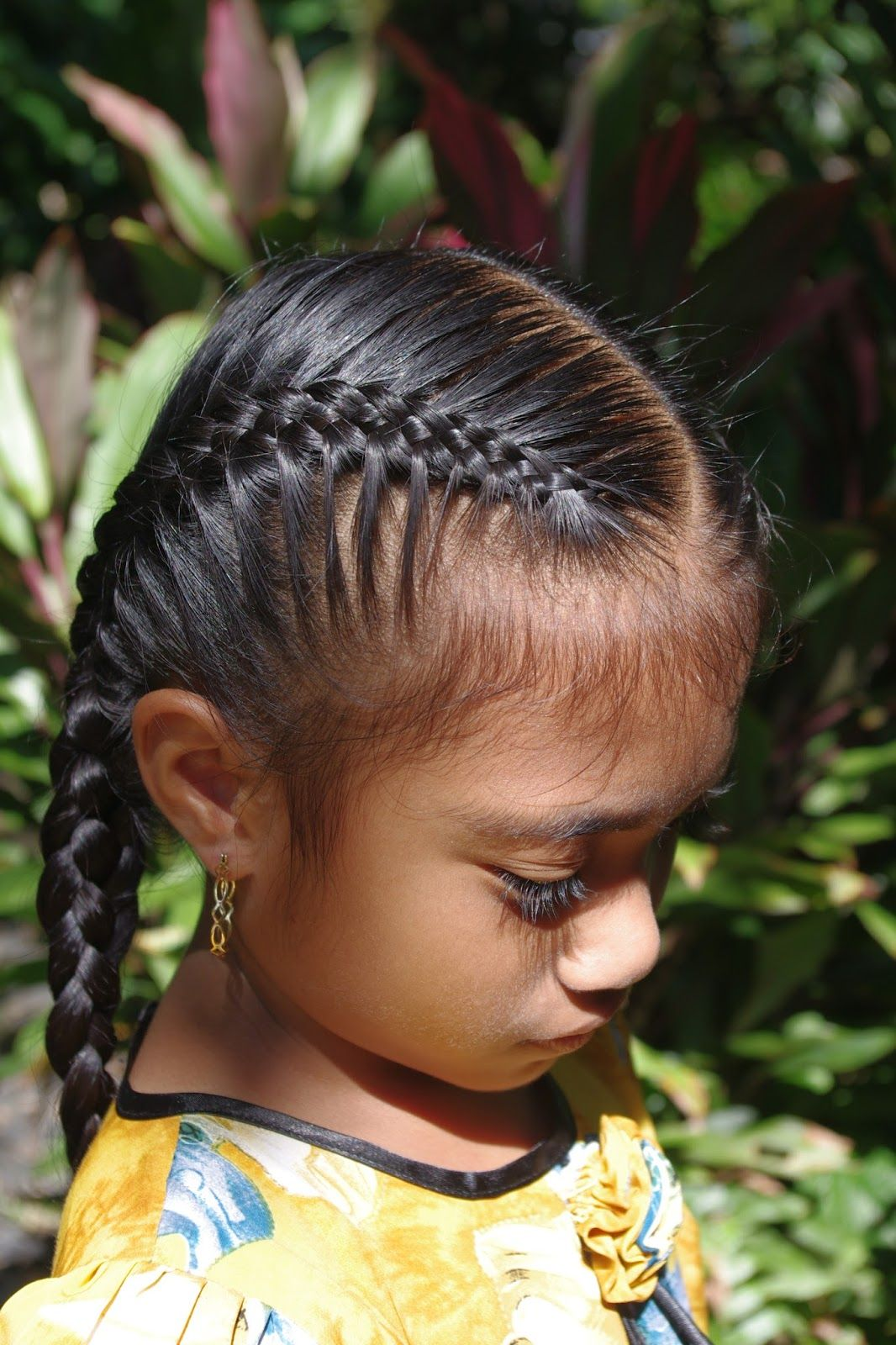Two French Braids With Chinese Bangs Ydxfufex