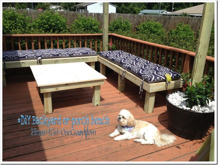 Diy Backyard Bench Simple And Will Save You A Ton Of Money