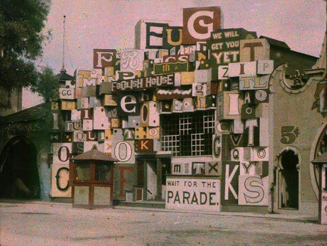 Autochrome Charles Zoller - Foolish house - Ontario beach park - 1910