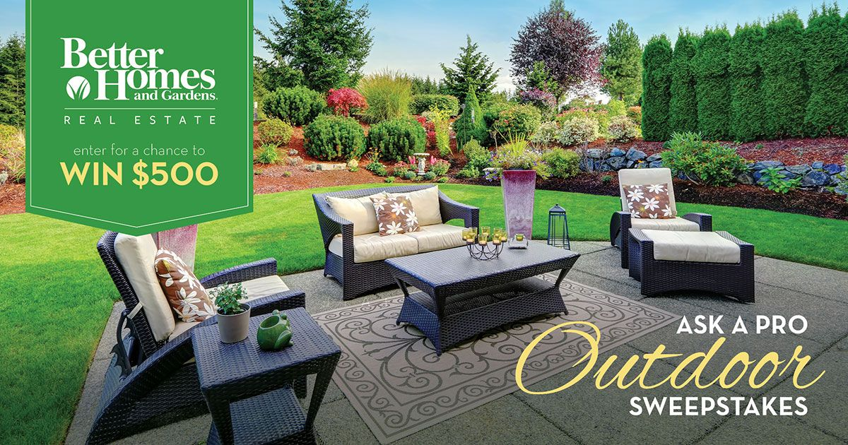 house and garden sweepstakes i just entered for a chance to win 500 from better homes 1031