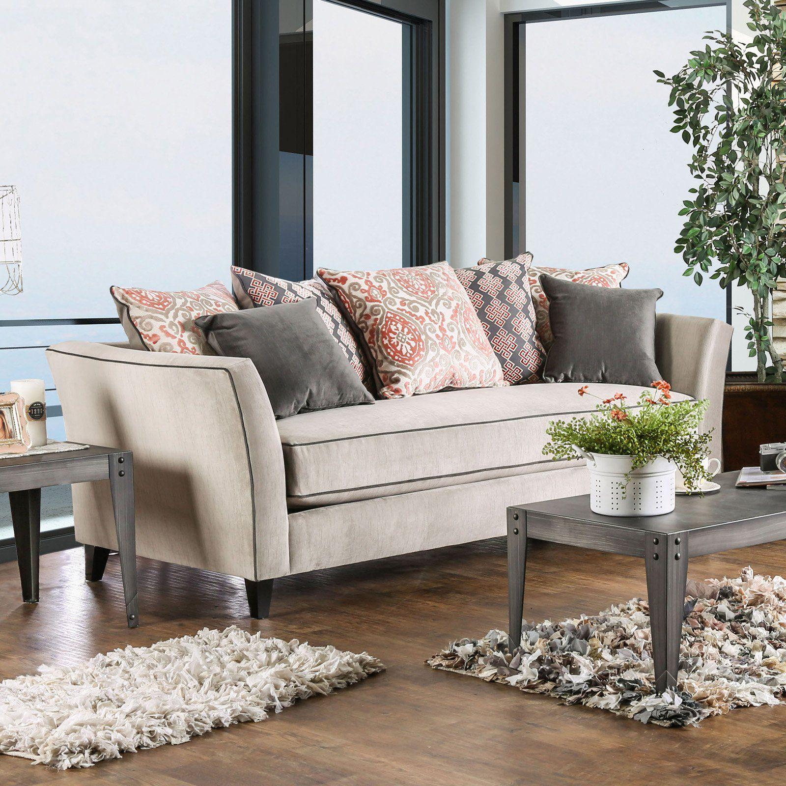 Furniture Of America Amarla Transitional Style Premium Velvet Like