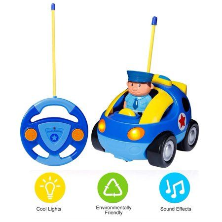 for children Remote Control Car RC Car with Sound Effect Kids Toys Blue