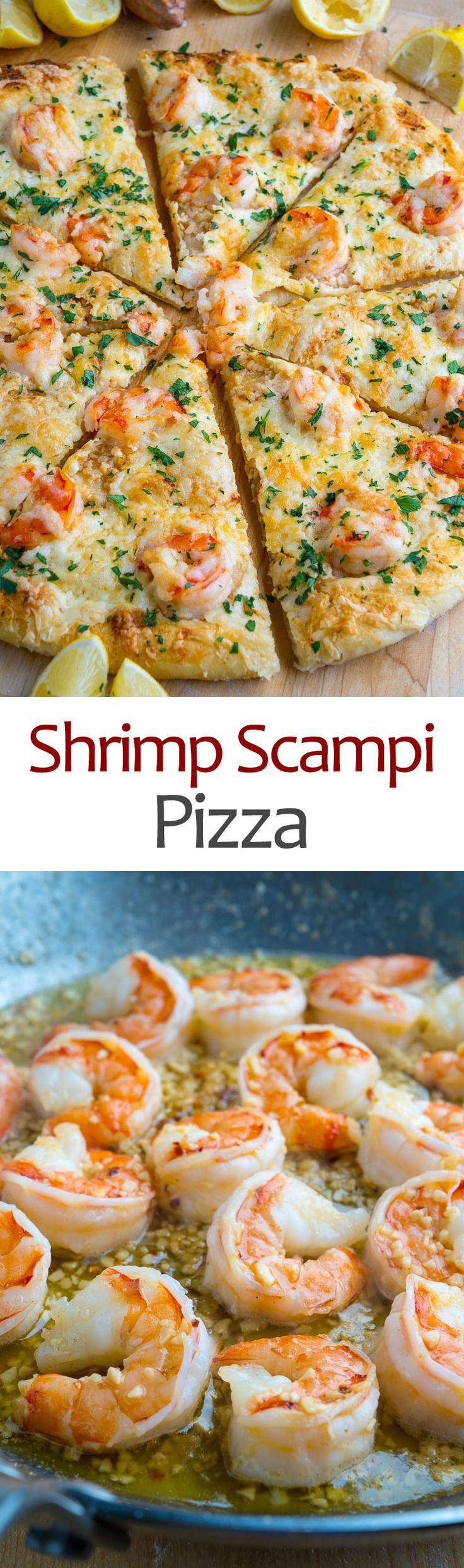 Shrimp Scampi Pizza Recipe #shrimpscampi