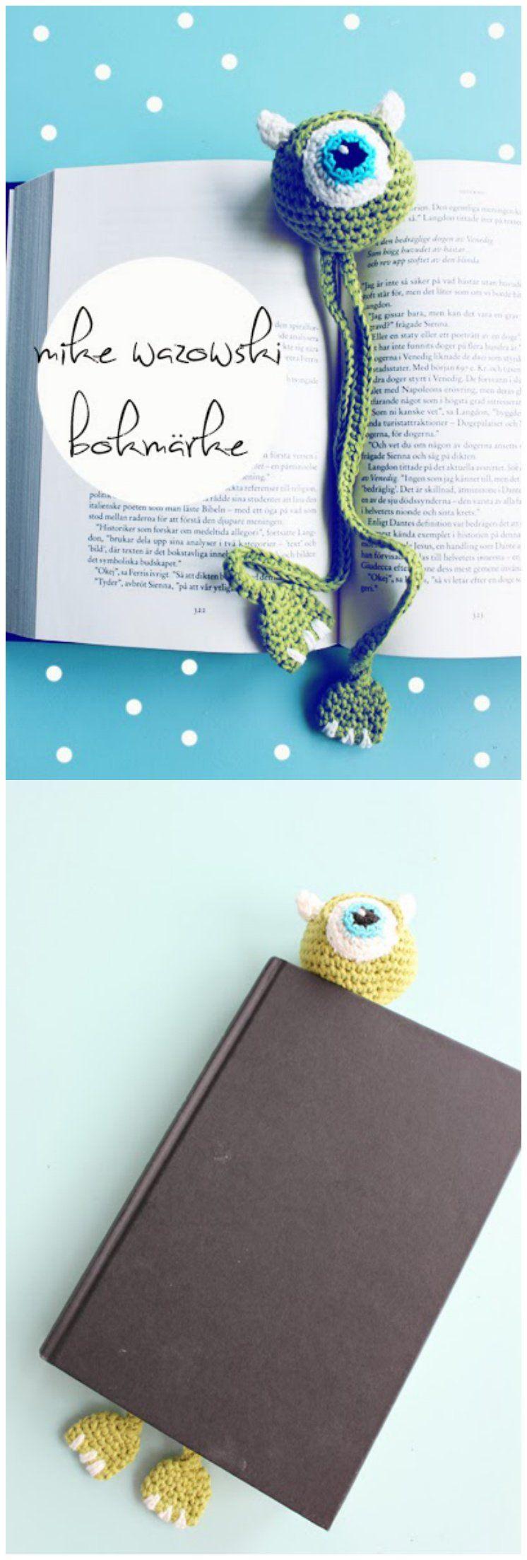 Monster Bookmark FREE Crochet Pattern | Crochet Patterns | Pinterest ...