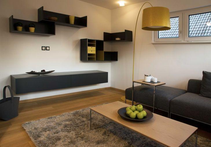 Musterhaus inneneinrichtung wohnzimmer  Wohnzimmer im Musterhaus Ulm - Plusenergiehaus der 3. Generation ...